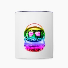 Cool Space Tiger 2 Bottles & Mugs