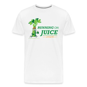 Running on Juice with logo - Men's Premium T-Shirt