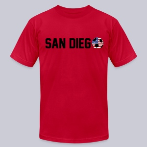 San Diego USA Soccerball - Men's T-Shirt by American Apparel