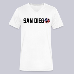 San Diego USA Soccerball - Men's V-Neck T-Shirt by Canvas