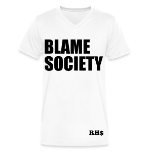 Blame Society Tee - Men's V-Neck T-Shirt by Canvas