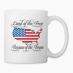 Land of the Free USA Flag Bottles & Mugs