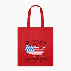 Land of the Free USA Flag Bags & backpacks