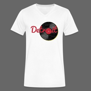Detroit Records - Men's V-Neck T-Shirt by Canvas