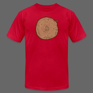 Mitten Tree Rings - Men's T-Shirt by American Apparel