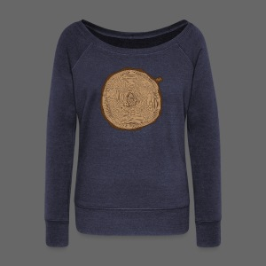 Mitten Tree Rings - Women's Wideneck Sweatshirt