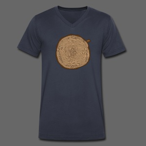 Mitten Tree Rings - Men's V-Neck T-Shirt by Canvas