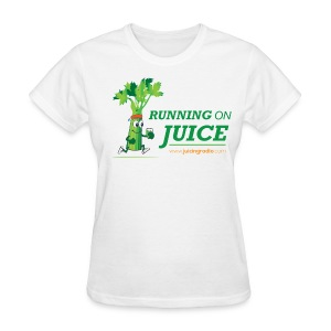Running on Juice (logo): Women's Fitted T-Shirt - Women's T-Shirt