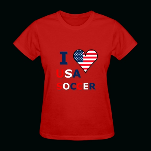 I Heart USA Soccer - Women's T-Shirt