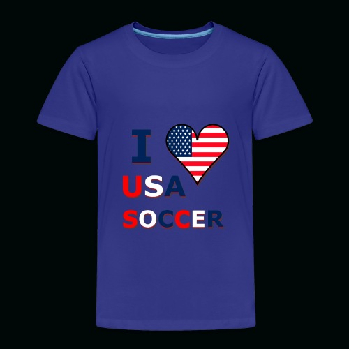 I Heart USA Soccer - Toddler Premium T-Shirt