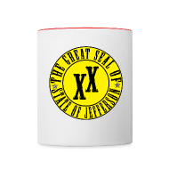 Mugs & Drinkware ~ Contrast Coffee Mug ~ State of Jefferson Mug