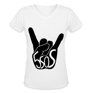 5SOS - Rock On - Women's V-Neck T-Shirt
