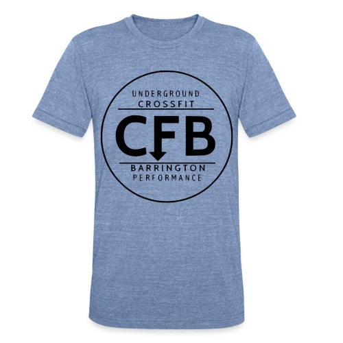 black cfb circle 1 - Unisex Tri-Blend T-Shirt by American Apparel