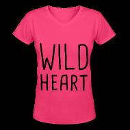 Women's T-Shirts ~ Women's V-Neck T-Shirt ~ The Vamps - Wild Heart