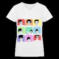 T-Shirts ~ Women's V-Neck T-Shirt ~ 1D - Liam's Selfies