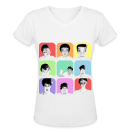 Women's T-Shirts ~ Women's V-Neck T-Shirt ~ 1D - Liam's Selfies