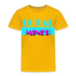 Total Miner Miamia Vice Parody Toddler T-Shirt - Toddler Premium T-Shirt