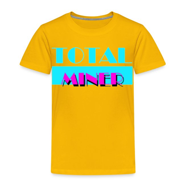 Total Miner Miamia Vice Parody Toddler T-Shirt