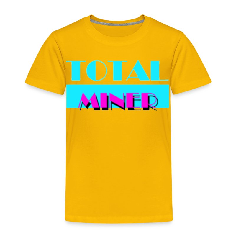 Total Miner Miamia Vice Parody Toddler T-Shirt - Toddler Premium T-Shirt