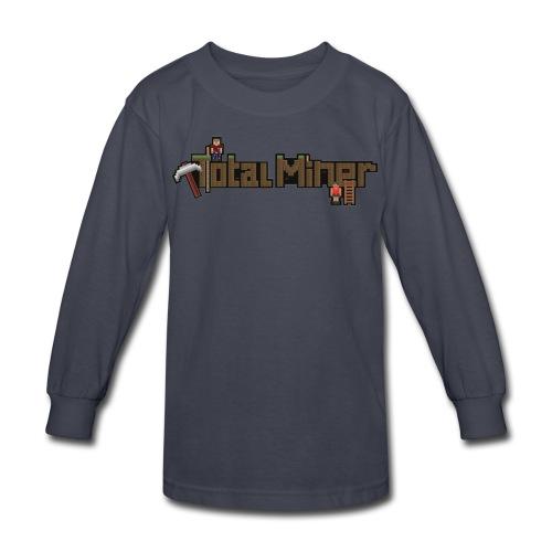 Total Miner Logo Kids Long Sleeved T-Shirt - Kids' Long Sleeve T-Shirt