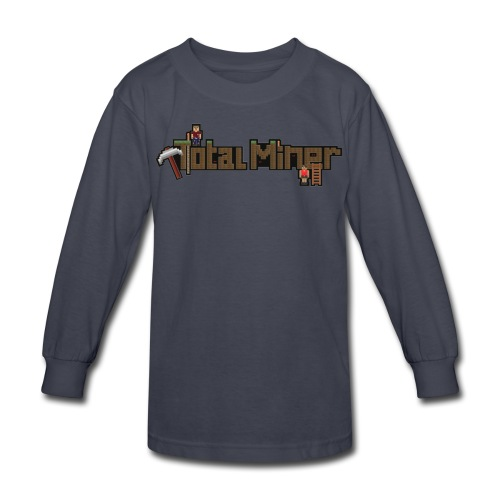 Total Miner Logo Kids Long Sleeved T-Shirt - Kids' Long Sleeve T-Shirt