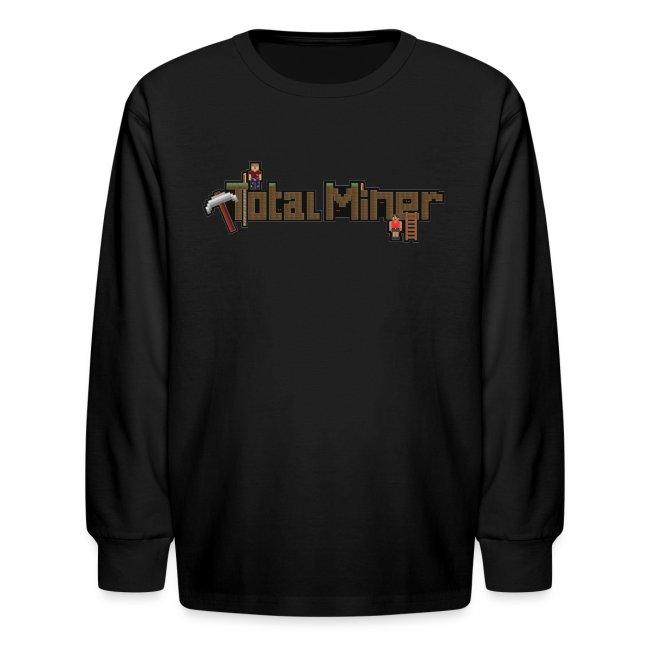 Total Miner Logo Kids Long Sleeved T-Shirt