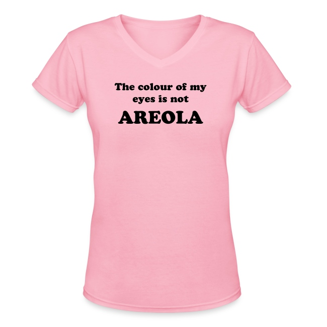 The colour of my eyes is not AREOLA