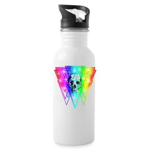 Shattered Skull Retro - Water Bottle