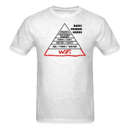 T-Shirts ~ Men's T-Shirt ~ Wifi Basic Human Needs