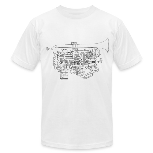 Trumpet - American Apparel T-shirt - Men's T-Shirt by American Apparel