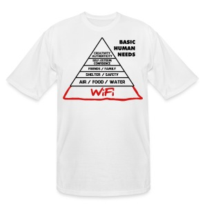 Wifi Basic Human Needs - Men's Tall T-Shirt