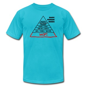 Wifi Basic Human Needs - Men's T-Shirt by American Apparel