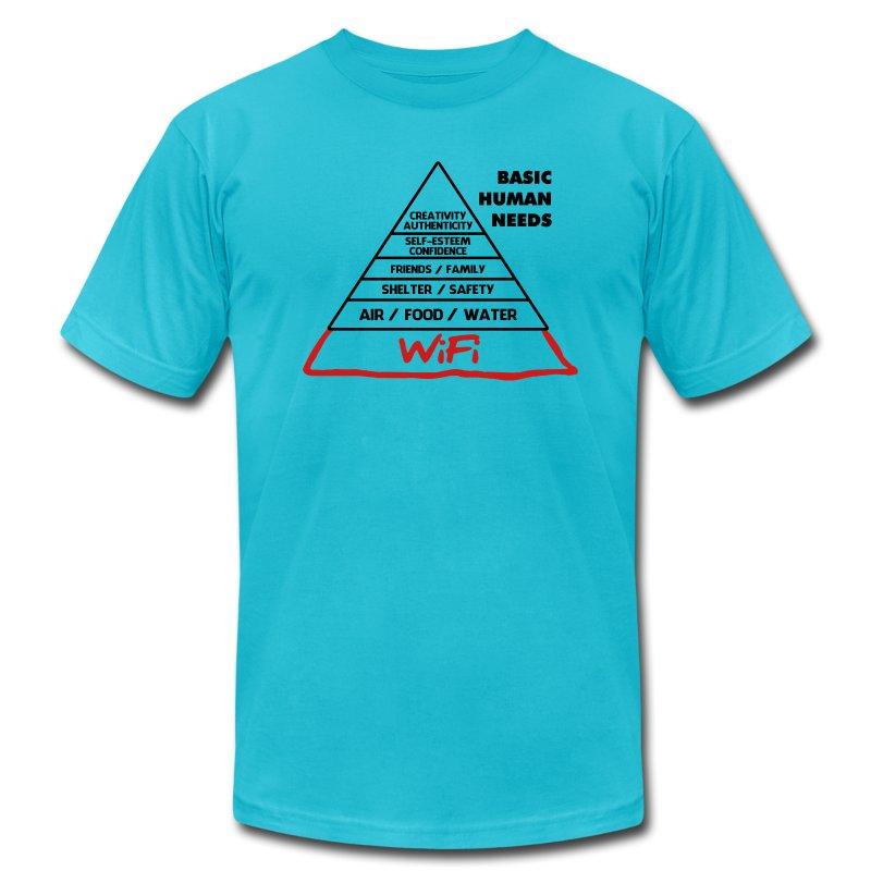 Wifi Basic Human Needs - Men's Fine Jersey T-Shirt