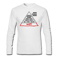 Long Sleeve Shirts ~ Men's Long Sleeve T-Shirt by American Apparel ~ Wifi Basic Human Needs