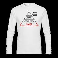 Long Sleeve Shirts ~ Men's Long Sleeve T-Shirt by Next Level ~ Wifi Basic Human Needs