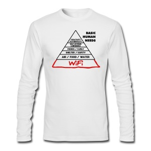 Wifi Basic Human Needs - Men's Long Sleeve T-Shirt by Next Level