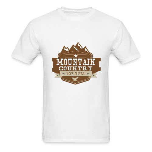 $15 Mountain Country 107.9 Men's Basic T-Shirt - Men's T-Shirt