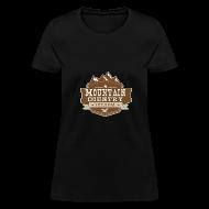 T-Shirts ~ Women's T-Shirt ~ $15 Mountain Country 107.9 Ladies Basic T-Shirt