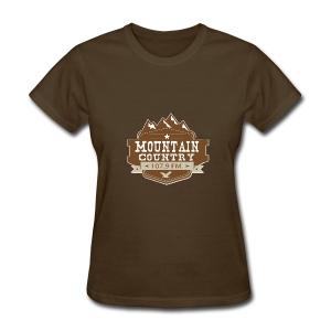$15 Mountain Country 107.9 Ladies Basic T-Shirt  - Women's T-Shirt