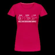 Women's T-Shirts ~ Women's Premium T-Shirt ~ Ladies Premium: Rock, Paper, Gun