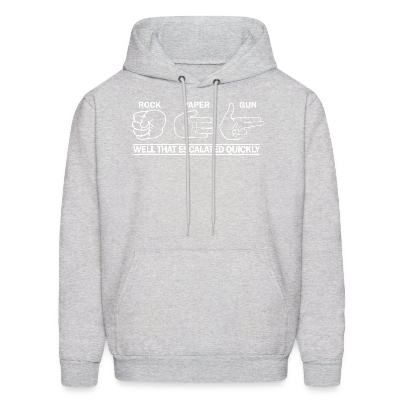 Hooded Sweater: Rock, Paper, Gun Hoodie   FPSRussia