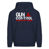 Hoodies ~ Men's Hoodie ~ Hooded Sweater: Gun Control