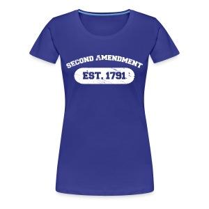 Ladies Premium: Second Amentment - Women's Premium T-Shirt
