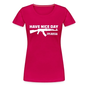Ladies Premium: Hand Nice Day! - Women's Premium T-Shirt