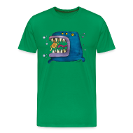 T-Shirts ~ Men's Premium T-Shirt ~ Big Fish Green  Tshirt