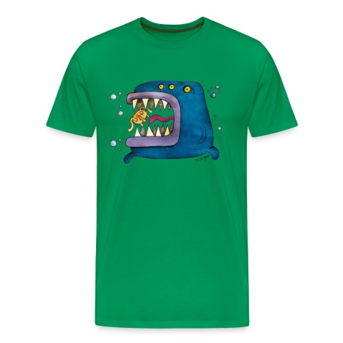 Big Fish Green  Tshirt - Men's Premium T-Shirt