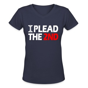 Ladies V-Neck: Plead The Second - Women's V-Neck T-Shirt