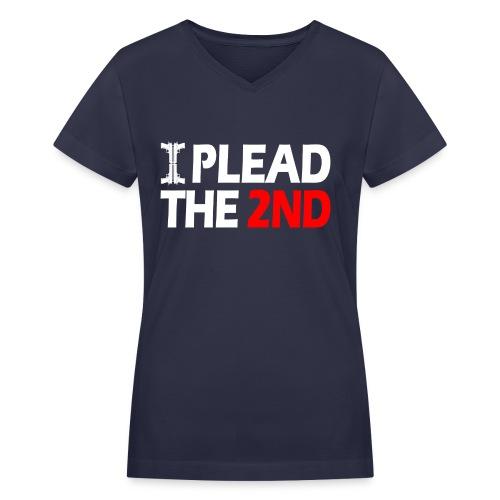 Ladies V-Neck: Plead The Second - Women's V-Neck T-Shirt