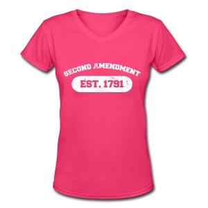 Ladies V-Neck: Second Amendment - Women's V-Neck T-Shirt