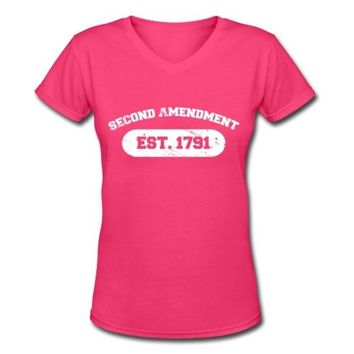 Ladies V-Neck: Second Amendment - Women's V-Neck T-Shirt